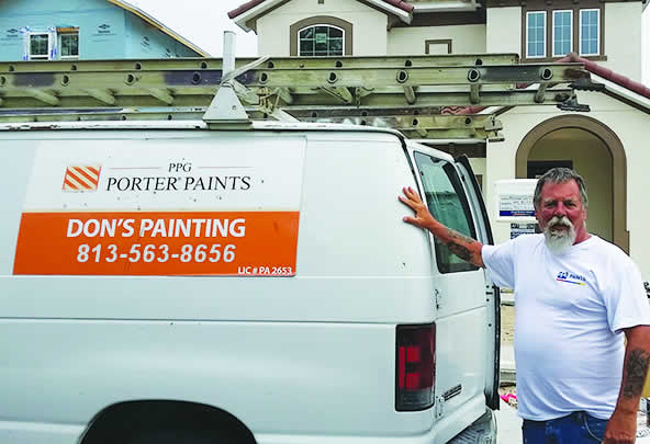 Don Murray Painting a Home in Fishhawk - Brandon, FL